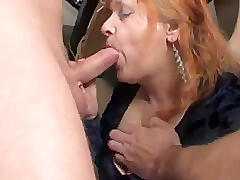 two matures women fucked by a group of junior guys