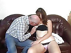 Chubby german girl fucked by older man